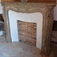 antique french pink marble corner fireplace