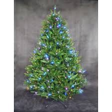 7 5 ft pre lit led california cedar artificial tree with rgb