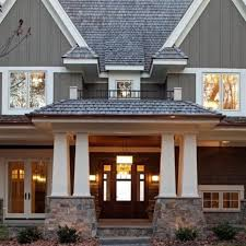 gray exterior house paint ideas white trim black shutters colors