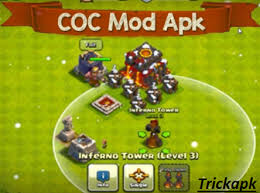 hacked apk clash of clans mod hacked apk coc trickapk