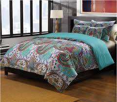 turquoise quilted coverlet oriental paisley red turquoise blue bedding twin full queen king