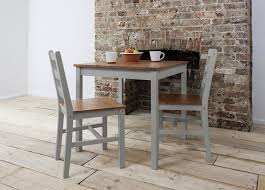 Annika Dining Table And  Chairs Bistro Set In Silk Grey And - Kitchen table for two