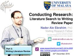 Literature Review Template For Word
