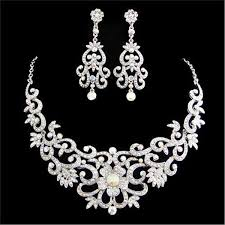 swarovski crystals necklace design images Intricate floral design swarovski crystal necklace and jpg