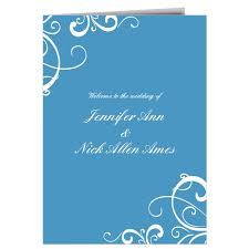simple wedding program wedding programs match your colors style free basic invite