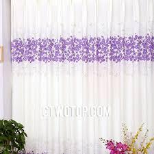 Light Purple Curtains Purple Flowers Floral Cheap Romantic Dreamy Simple Curtains