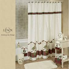 lenox holiday nouveau holly shower curtain