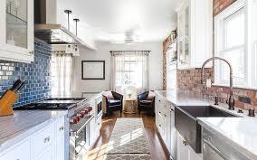 kitchen faucets sacramento blue ceramic backsplash brick subway tile farmhouse sacramento