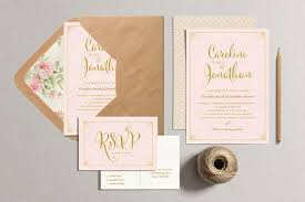 blush and gold wedding invitations gold and blush wedding invitations tbrb info tbrb info