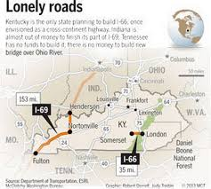 Ky Road Map After Millions Of Dollars I 66 And I 69 Are Kentucky U0027s
