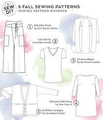 classic wardrobe five fall sewing patterns for a classic wardrobe u2014 sew diy