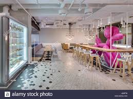 confectionery in a loft style with light interior there are