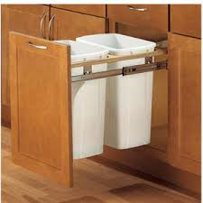 Kitchen Garbage Cabinet Trash Can Pull Out For 15 Inch Cabinet