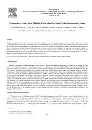 comparative analysis of multiple controllers for semi active suspensi u2026