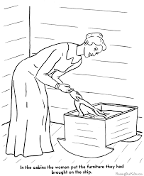 story of the thanksgiving coloring page 006