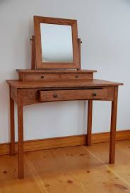 Craftsman Style Computer Desk Handmade Mission Cherry Dressing Table Hawk Ridge Furniture