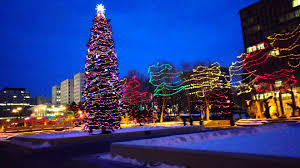 2015 christmas lights up edmonton downtown youtube
