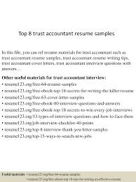 Accounting Resume Samples Free by Top8trustaccountantresumesamples 150527135121 Lva1 App6892 Thumbnail 4 Jpg Cb U003d1432734724