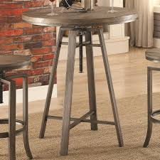 Adjustable Height Bar Table with Industrial Bar Table With Swivel Adjustable Height Mechanism By