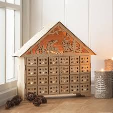 wood advent calendar wood light up advent house by the contemporary home