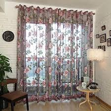 norbi decorative floral tulle voile door window rom curtain drape