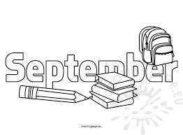 Coloring Pages Kids September Coloring Page Coloring Pages For September
