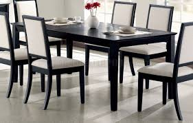 Distressed Black Dining Room Table with Dining Table 101561 In Black By Coaster W Options