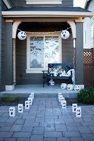 friendly ghost halloween porch decor