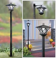 Nature Power Hanging Solar Shed Light by 5 Ft Tall Solar Powered 2 In 1 Outdoor Garden Lantern Lamp Post