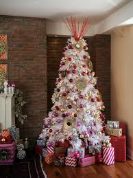 red white and silver christmas tree decorations house design ideas