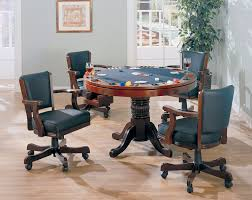 5 pc mitchell collection cherry finish game room table set poker