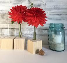 Small Red Vases Test Tube Bud Vases Diy Do It Yourself Flower Test Tube