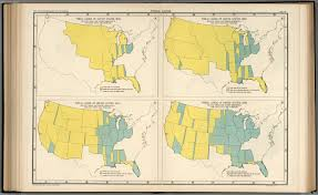 1850 United States Map by Plate 58 Public Lands Of United States 1830 1890 David