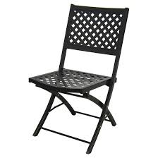 Patio Furniture Metal Woven Metal Folding Patio Chair Threshold Target