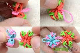 diy bracelet rubber bands images Easy diy instruction on making a candy color loom flower bracelet jpg