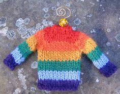 tiny sweater ornament miniature crocheted by alexisartstudio