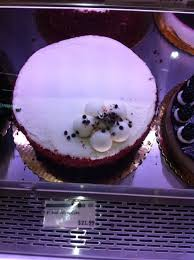 excellent red velvet cake at the whole foods market sauganash