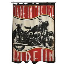 Dc Shower Curtain Vintage Motorcycle Shower Curtain Free Shipping Today