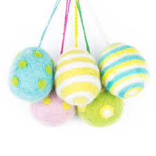 felt easter eggs handmade felt easter eggs by felt so notonthehighstreet