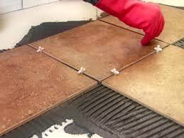 Tile Floor Installers Installing Diagonal Tiles How Tos Diy