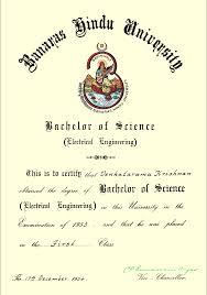 thesis in electrical engineering venkatarama krishnan bsc engg electrical engineering first class banaras hindu university 1953