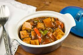 Chinese Main Dish Recipe - kung pao tofu with vegetables recipe by archana u0027s kitchen simple