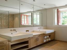 bathroom mirror ideas on wall bathroom ideas large frameless bathroom wall mirrors with