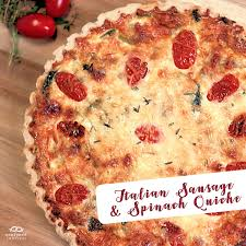 Spinach Quiche With Cottage Cheese by Italian Sausage And Spinach Quiche Recipe For Two