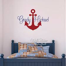 popular name room wall sticker buy cheap custom name wall sticker kids room baby nursery anchor decal cut vinyl stickers personalized