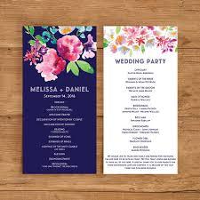wedding program template printable wedding program template floral ceremony program