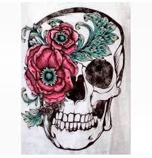 ideas thigh tattoos skull tattoos flower skull sugar skull