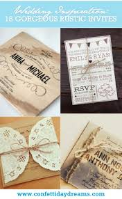 Rustic Invitations Gorgeous Rustic Wedding Invitations