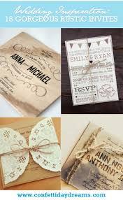 Rustic Invitations Gorgeous Rustic Wedding Invitations