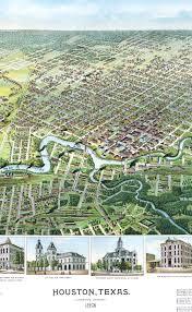 Map Of Houston Area Houston Texas In 1891 Bird U0027s Eye View Aerial Map Panorama